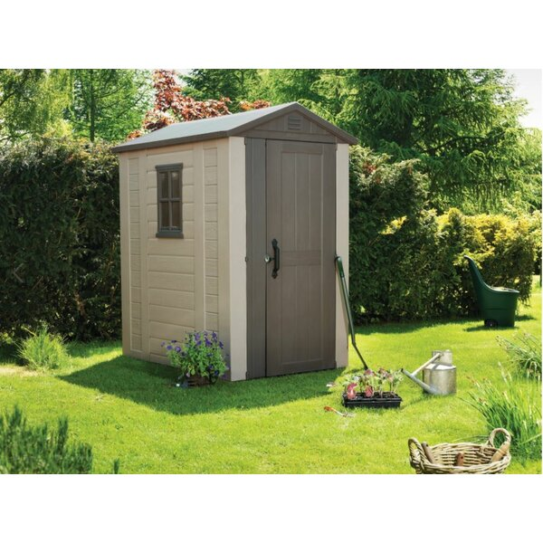 Factor 4 ft. 3 in. W x 6 ft. 2 in. D Plastic Tool Shed by Keter