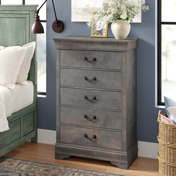 Kepley Contemporary 5 Drawer Chest by Three Posts