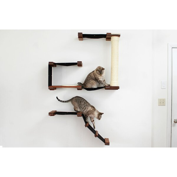 60 Mod Deluxe Multi-Level Wall-Mounted Fort by Cat