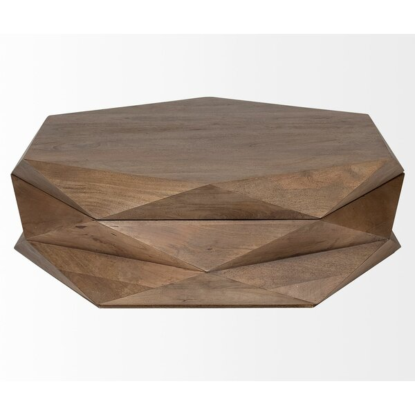 Fenn Coffee Table with Tray Top and Storage by Brayden Studio