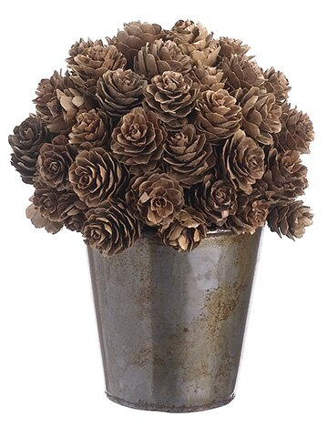 Ball Shaped Pine Cone Topiary in Pot by The Holiday Aisle