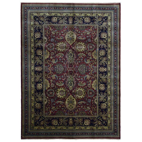 Ballyclarc Traditional Hand Woven Wool Red/Black Area Rug by Astoria Grand