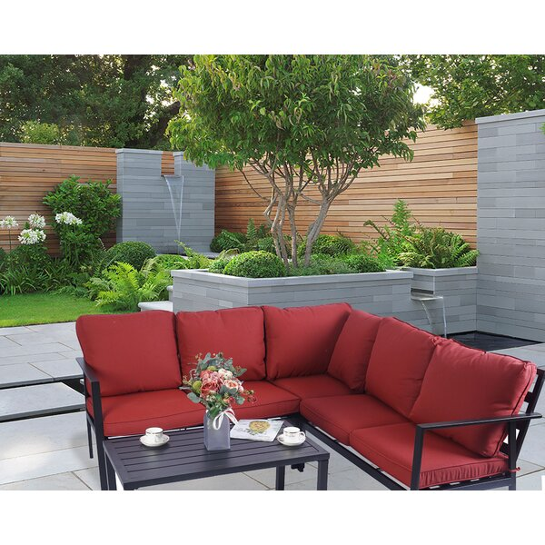 Kalkaska 4 Piece Seating Group with Cushions by Ebern Designs