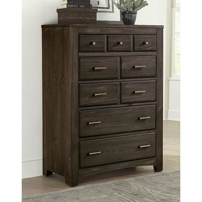 Hernandez 5 Drawers Chest Color: Coffee