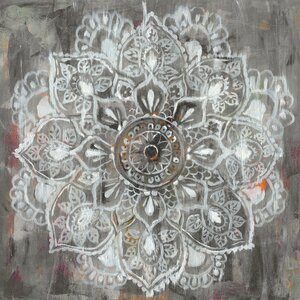 'Mandala in Neutral II' Painting Print on Canvas by East Urban Home