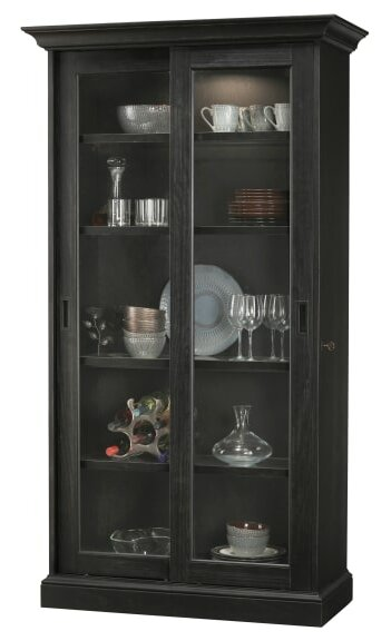 Malaya Lighted Curio Cabinet by Gracie Oaks