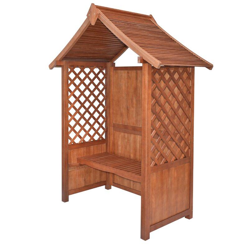 rowlinson 2 sitzer gartenlaube canterbury aus holz. Black Bedroom Furniture Sets. Home Design Ideas
