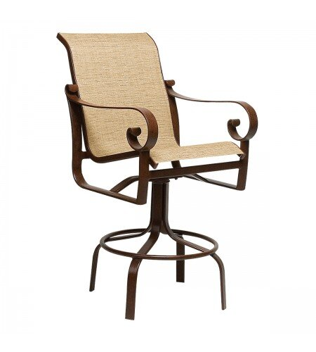 Belden Sling Swivel Patio Bar Stool by Woodard