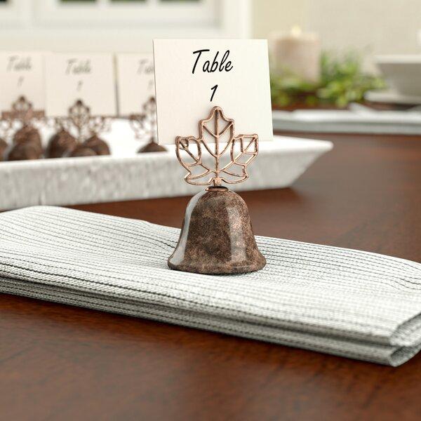 Lustrous Leaf Kissing Bell Place Card Holder (Set of 24) by Red Barrel Studio