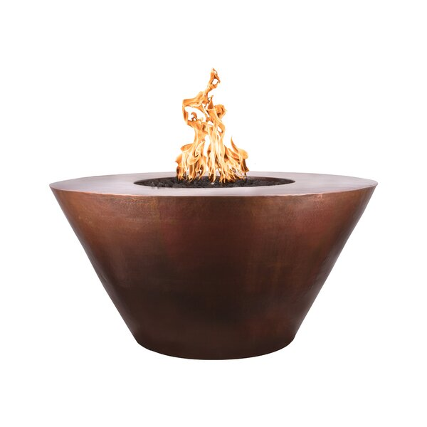 Martillo Round Copper Fire Pit by The Outdoor Plus