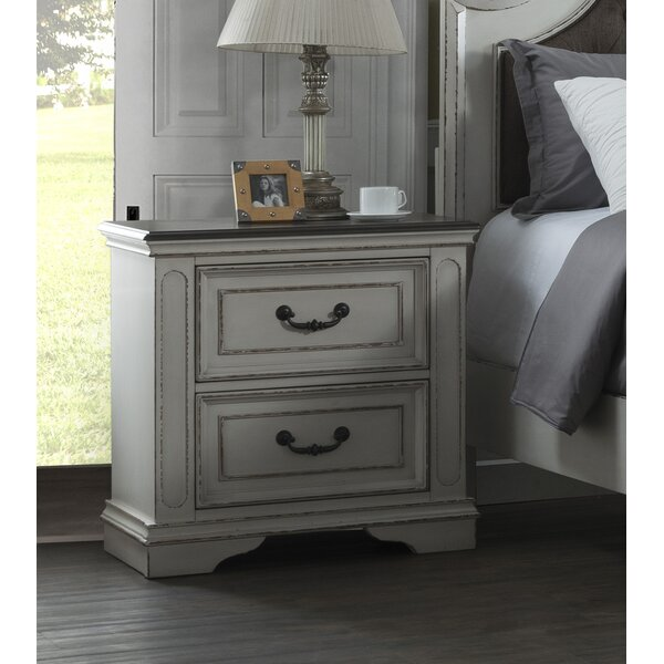 Benedick 2 Drawer Nightstand by One Allium Way One Allium Way