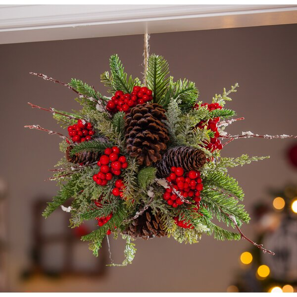 Pinecone and Berry Kissing Ball Swag by The Holiday Aisle