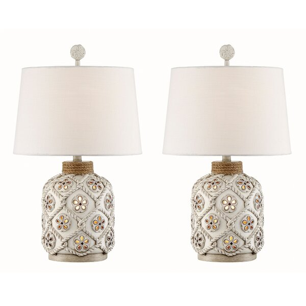 Campos Sandollar Rope 26 Table Lamp (Set of 2) by Rosecliff Heights