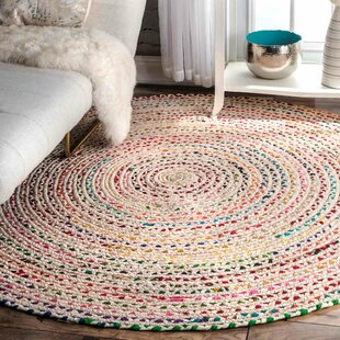 Christie Hand-Braided Ivory Area Rug by Trule Teen