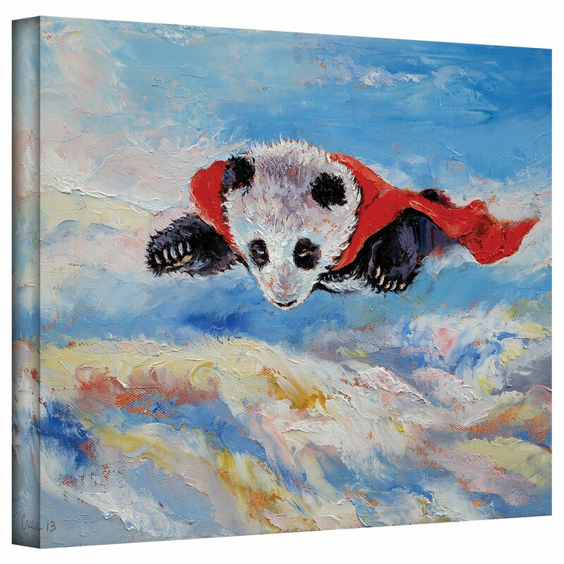 Panda Superhero By Michael Creese Painting Print On Wrapped Canvas