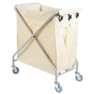 folding rolling laundry cart