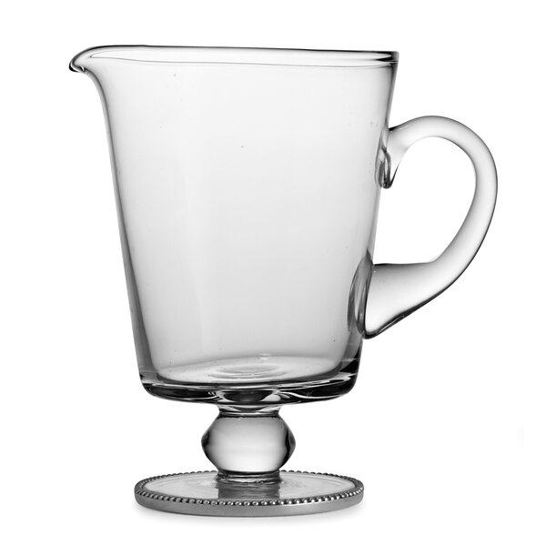 Eleganza Footed Beaded 38 oz. Pitcher by Arte Italica