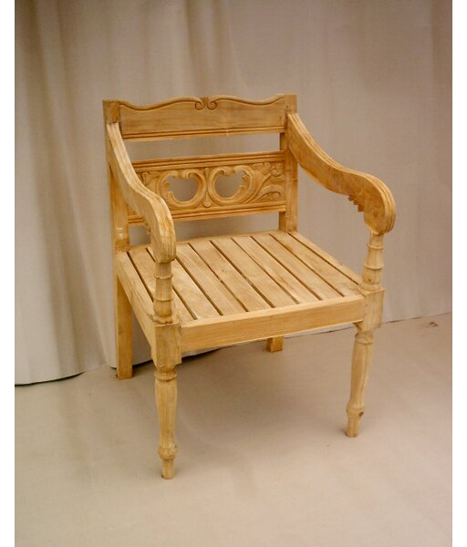 Proulx Teak Patio Chair by One Allium Way