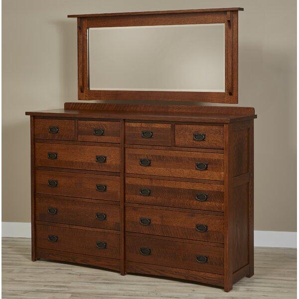 Kristin 12 Drawer Dresser with Mirror by Loon Peak Loon Peak®