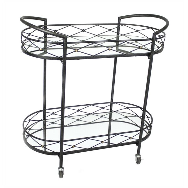 Croy Metal Bar Cart by Fleur De Lis Living