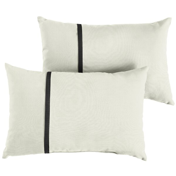 Fort Hamilton Indoor/Outdoor Sunbrella Lumbar Pillow (Set of 2) by Charlton Home