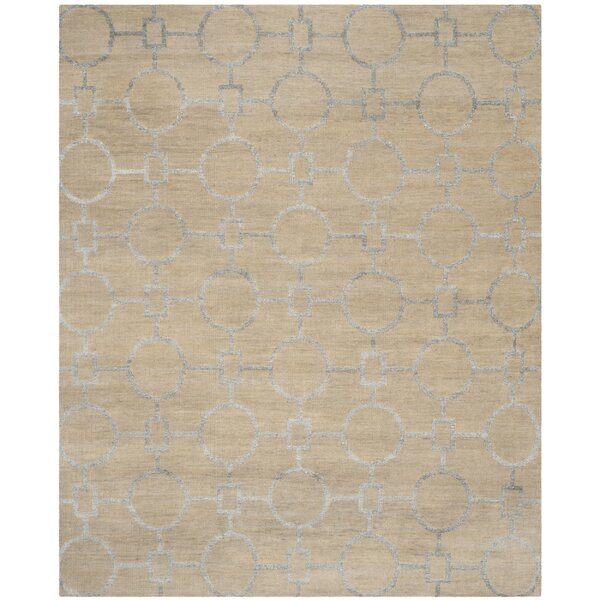 Stone Wash Hand-Woven Cotton Beige Area Rug by Safavieh