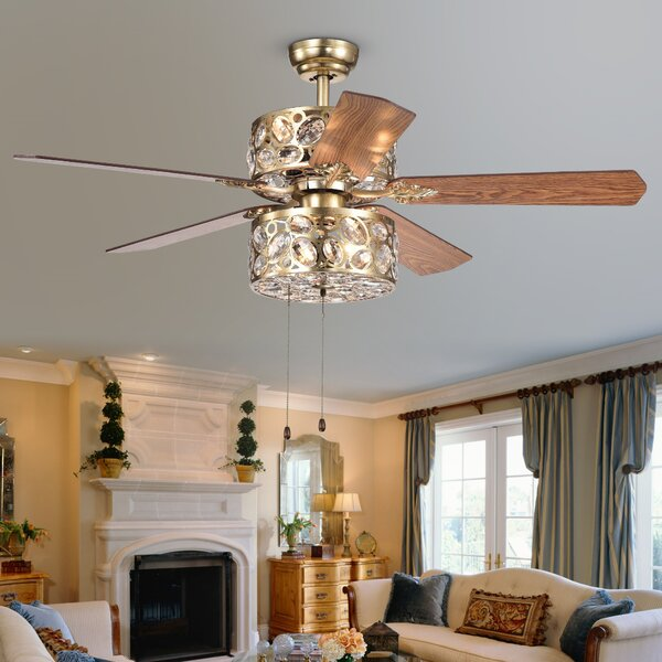 Mcgary 3-Light LED Ceiling Fan by House of Hampton