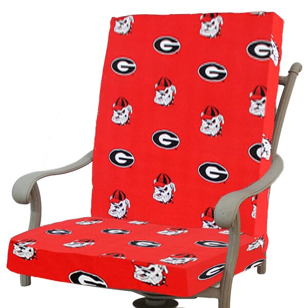 NCAA Georgia Indoor/Outdoor Dining Chair Cushion by College Covers