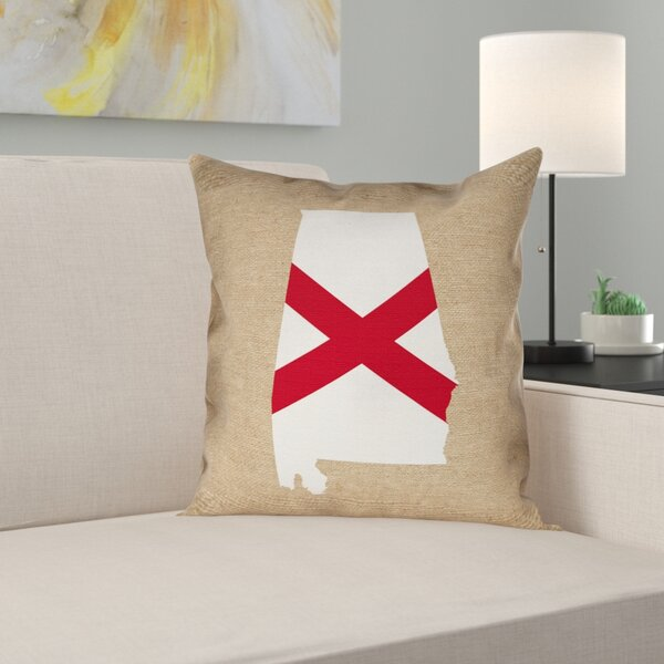 Brumit Alabama Flag Indoor/Outdoor Pillows in , Floor Pillow/Spun Polyester