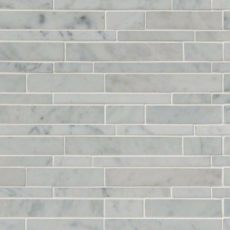 MSI Carrara Rsp Pattern Polished Random Sized Marble Mosaic Tile In Inspiration Random Tile Pattern