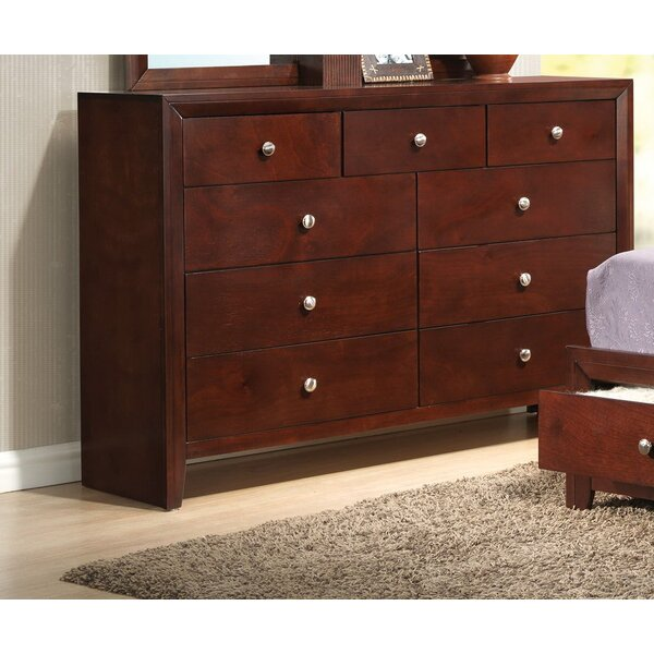 Alexei 9 Drawer Double Dresser by Alcott Hill