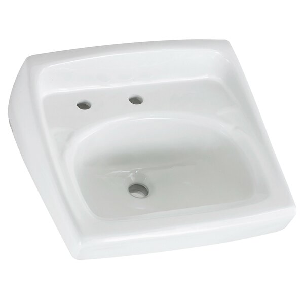 Lucerne Ceramic 21 Wall Mount Bathroom Sink with Overflow by American Standard