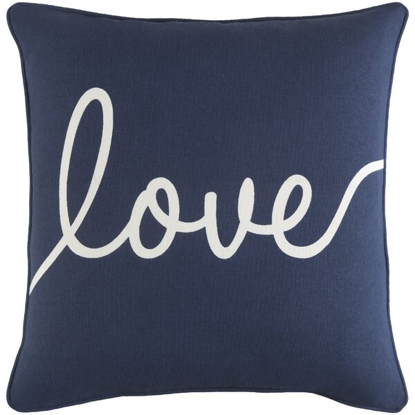 Carnell Romantic Love Cotton Throw Pillow by Mercury Row