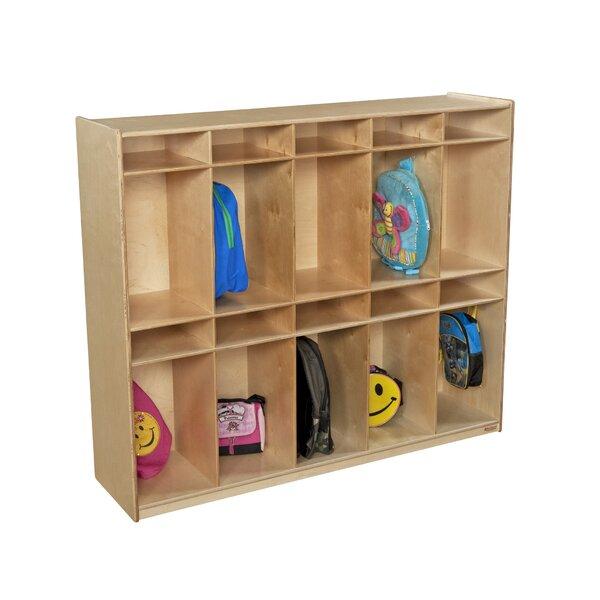 4 Tier 5 Wide Coat Locker by Wood Designs