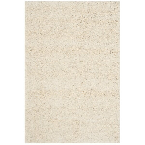 Mckeehan Shag and Flokati Ivory Area Rug by Mercury Row
