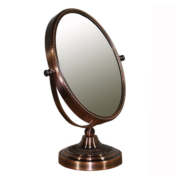 Oval Brown Magnify Mirror by Darby Home Co