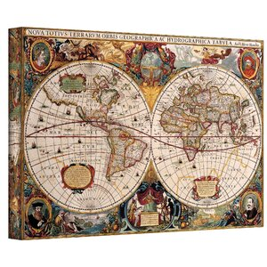 Antique 'Hydrographical Map' Graphic Art on Canvas by ArtWall