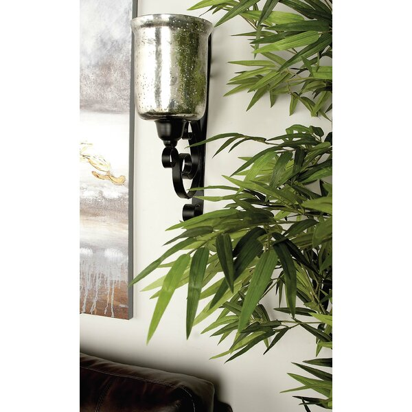 Metal and Glass Sconce by Cole & Grey