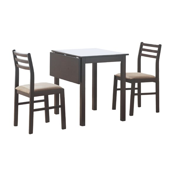 Arquette 3 Piece Drop Leaf Dining Set by Andover Mills