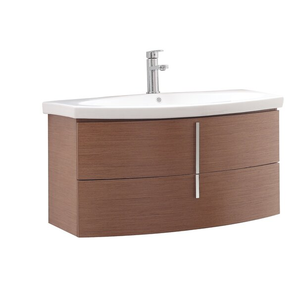 Aiden 36 Single Wall Mounted Bathroom Vanity Set by Orren Ellis