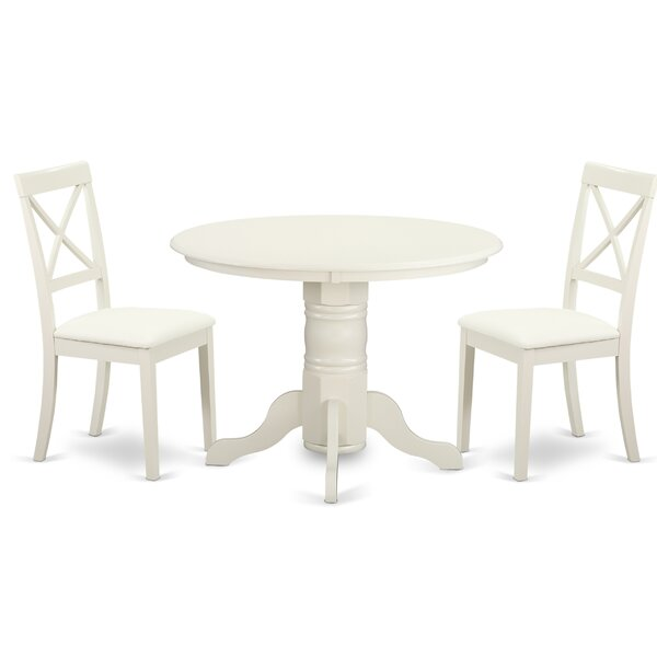Sherlock 3 Piece Solid Wood Dining Set by August Grove