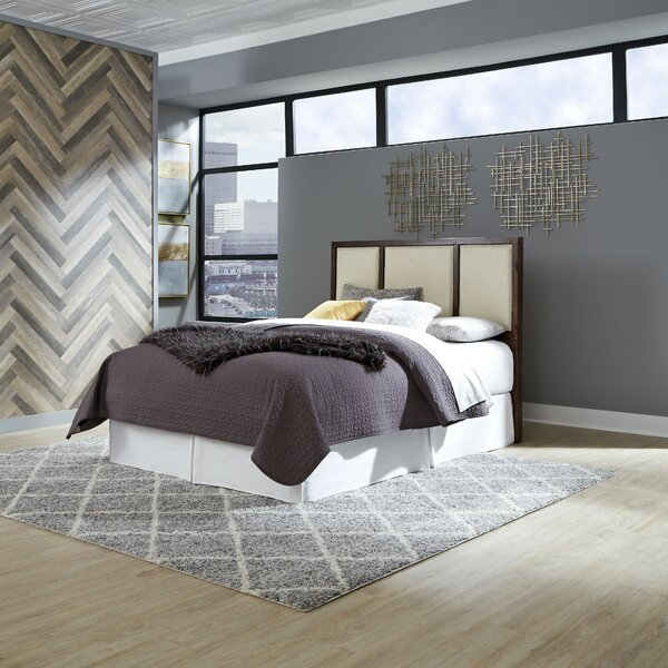 Robbinsdale Upholstered Panel Headboard by Wrought Studio