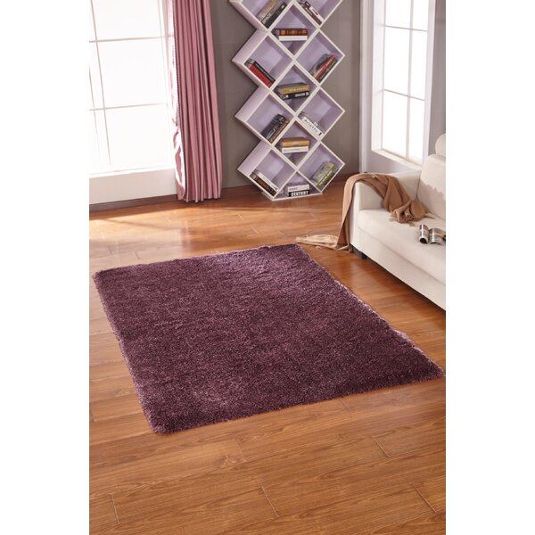 Lurex Tone Purple Hand Tufted Area Rug by Rug Factory Plus
