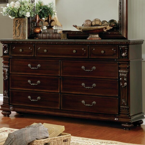 Kelly Traditional 9 Drawer Dresser by Fleur De Lis Living