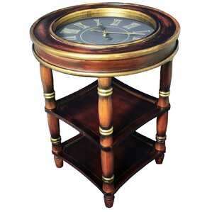Dual Shelf Clock End Table by Urban Designs
