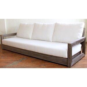 Constance Teak Outdoor Patio Sofa with Cushions Brayden Studio