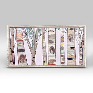 'Light Pink Birch Trees' Graphic Art Print by GreenBox Art
