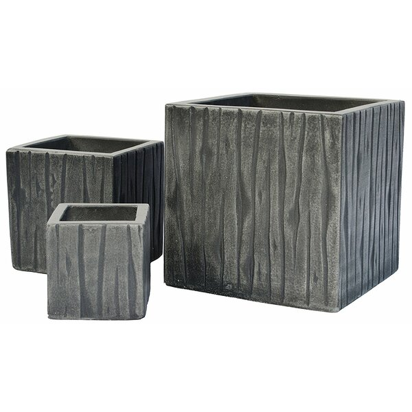 Carnside 3-Piece Concrete Planter Box Set by Foundry Select