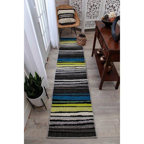 Melcher Wool Gray Indoor/Outdoor Area Rug by Ebern Designs