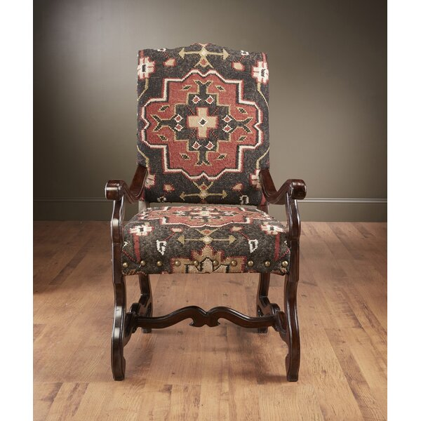 Ken Kilim Fabric Armchair by Millwood Pines Millwood Pines